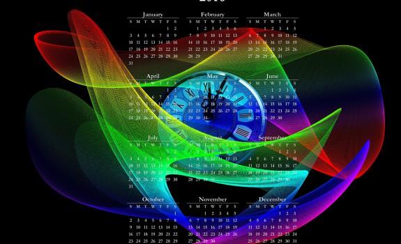 calendrier multicolore