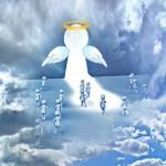 ange avec famille d'amis